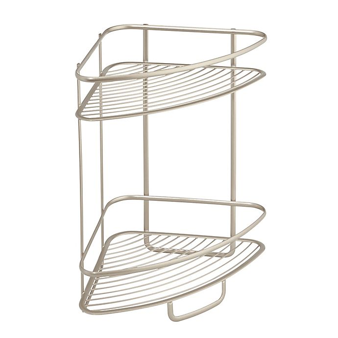 Alternate image 1 for iDesign® Axis 2-Tier Standing Corner Storage Shelf