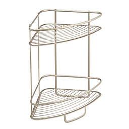 iDesign® Axis 2-Tier Standing Corner Storage Shelf