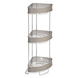 iDesign® Twillo 3-Tier Standing Corner Storage Shelf