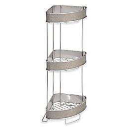 iDesign® Twillo 3-Tier Standing Corner Storage Shelf