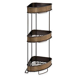 iDesign® Twillo 3-Tier Standing Corner Storage Shelf in Bronze