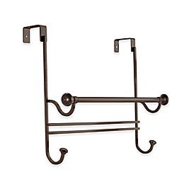 iDesign® York 18.5-Inch Over-the-Door Towel Bar with Hooks