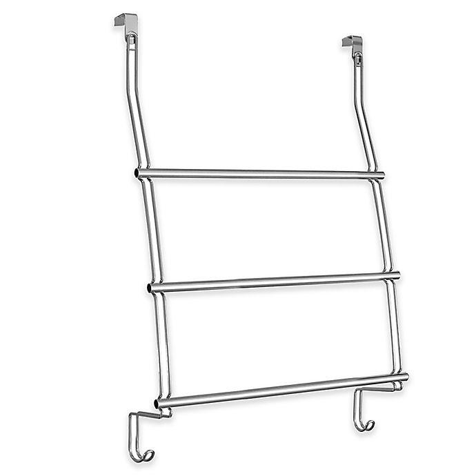Alternate image 1 for iDesign® 3-Bar Over-the-Door Towel Rack in Chrome