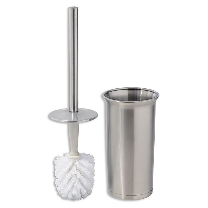 Alternate image 1 for iDesign® Forma Ultra 2-Piece Toilet Brush and Brush Holder Set in Brushed Stainless Steel