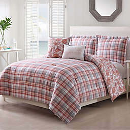Pescadero 5-Piece Comforter Set in Coral