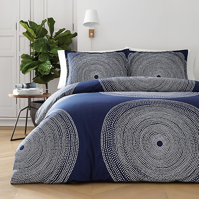 Alternate image 1 for marimekko® Fokus King Comforter Set in Navy