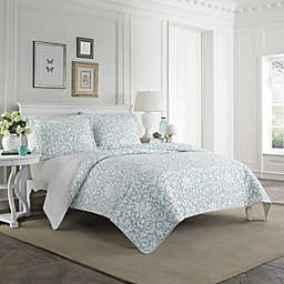 Laura Ashley® Mia Quilt Set in Light Blue