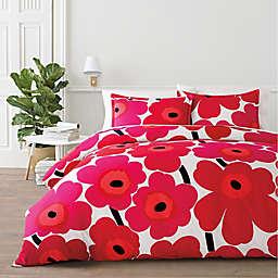 marimekko® Unikko 2-Piece Twin Comforter Set in Red