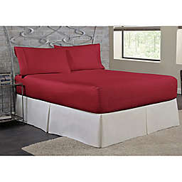 Bed Tite™ Soft Touch Polyester 200-Thread-Count Twin Sheet Set in Burgundy
