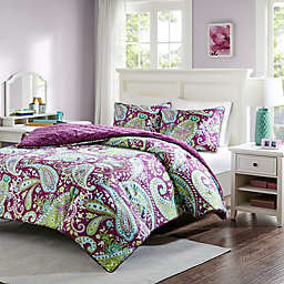 Intelligent Design Melissa 2-Piece Twin Comforter Set in Purple