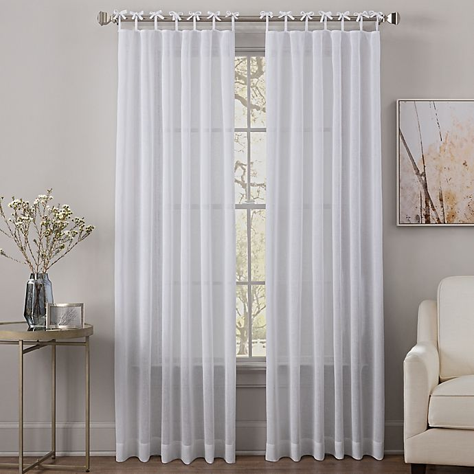 Sahara Tie Top Sheer Window Curtain Panel