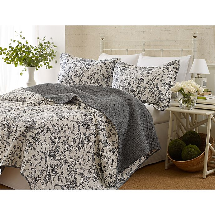 Alternate image 1 for Laura Ashley® Amberley 3-Piece Quilt Set