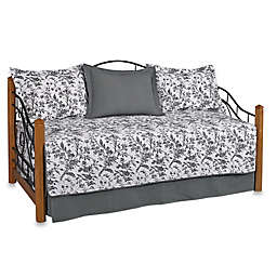 Laura Ashley® Amberley Daybed Set in Black/White