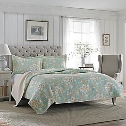 Laura Ashley® Brompton Quilt Set in Aqua