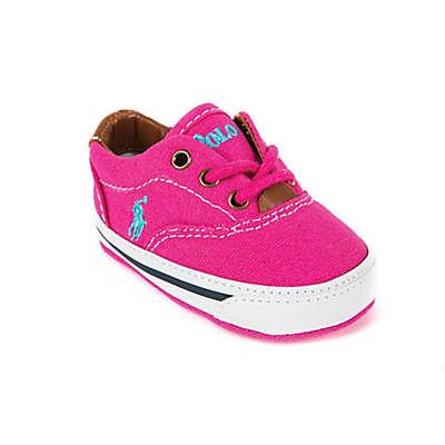 Ralph Lauren Layette Shoe in Raspberry