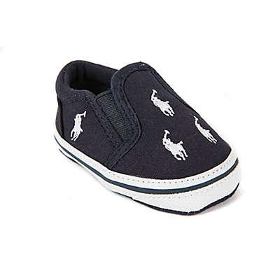 Ralph Lauren Layette Bal Harbour Soft Sole Kids' Slip On Sneaker in Navy