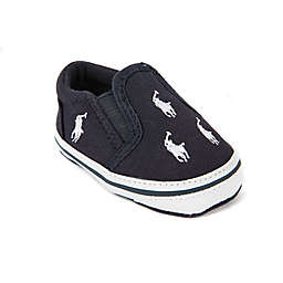 540c01541ae Ralph Lauren Layette Bal Harbour Soft Sole Kids  Slip On Sneaker in Navy
