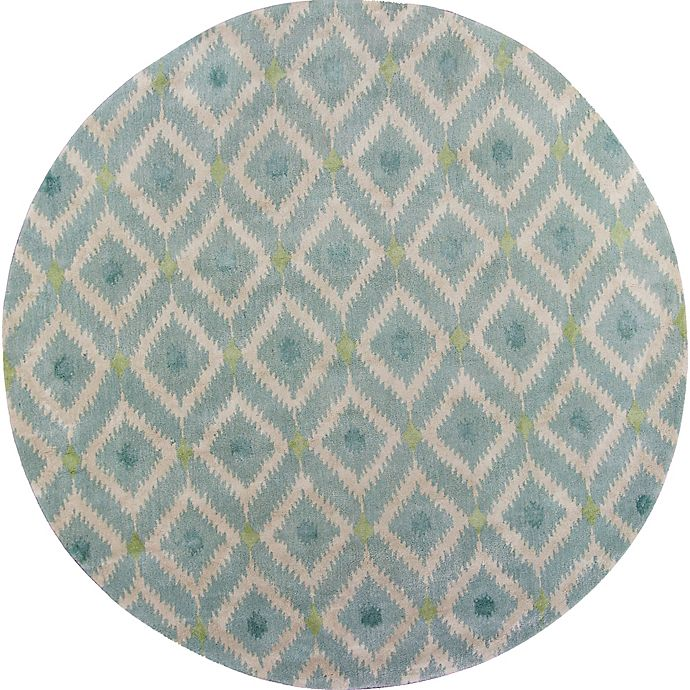Alternate image 1 for KAS Bob Mackie Home Mirage 7-Foot 6-Inch Round Area Rug in Blue