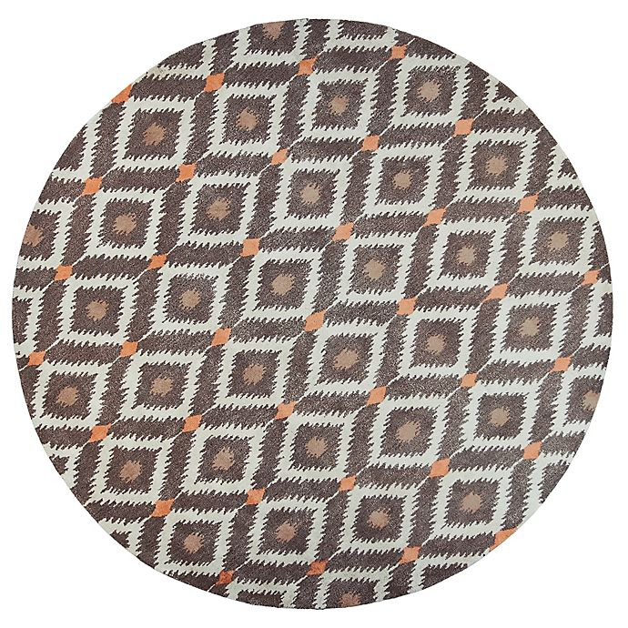 Alternate image 1 for KAS Bob Mackie Home Mirage 7-Foot 6-Inch Round Area Rug in Mocha