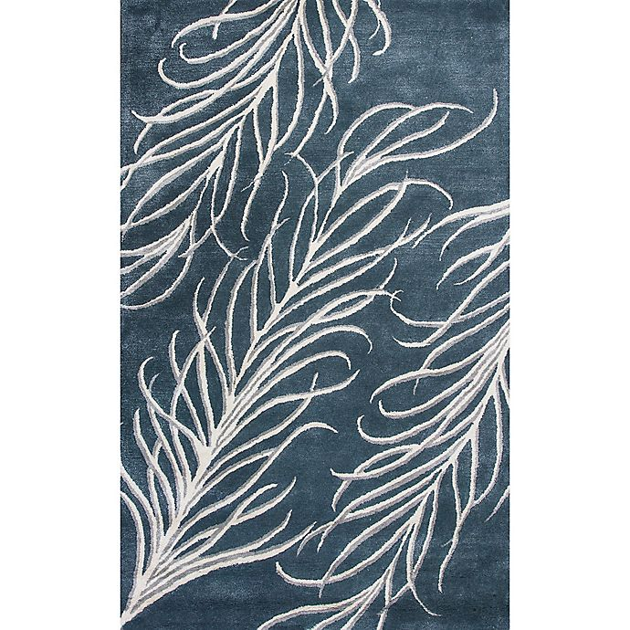 Alternate image 1 for Bob Mackie Home Plume 9-Foot x 13-Foot Area Rug in Slate Grey