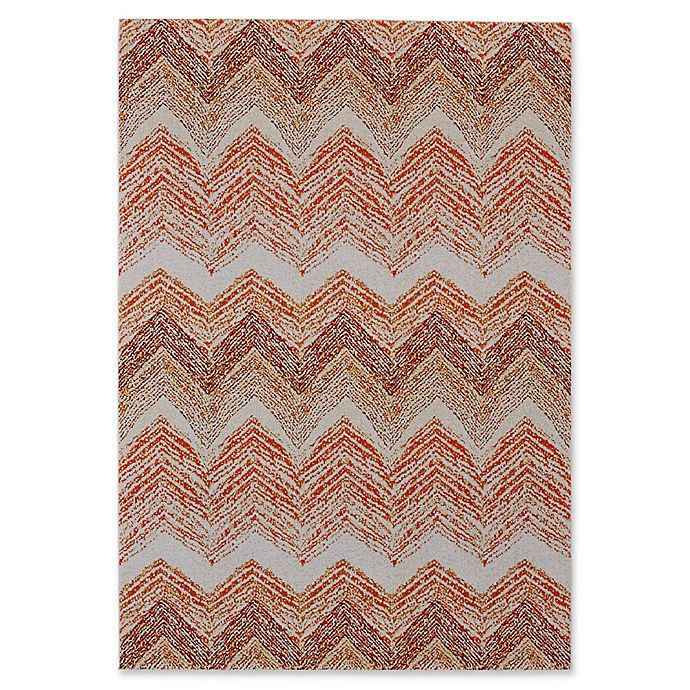 Alternate image 1 for Feizy Cerys Sunset 2-Foot 10-inch x 7-Foot 10-Inch Runner in Orange