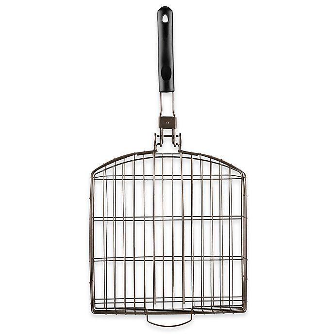Alternate image 1 for Just Grillin' Oversized Grilling Basket with Folding Handle