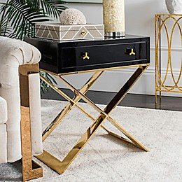 Safavieh Couture Yolanda Lacquer Side Table in Black