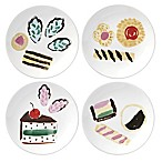 kate spade new york All in Good Taste™ Smart Cookie Tidbit Plates (Set of 4)