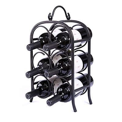 Oenophilia 6-Bottle Wine Arch in Black