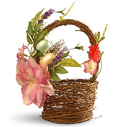 National Tree Company 7-Inch Decorated Easter Basket