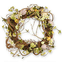 National Tree Company 18-Inch Easter Eggs Wreath in Yellow