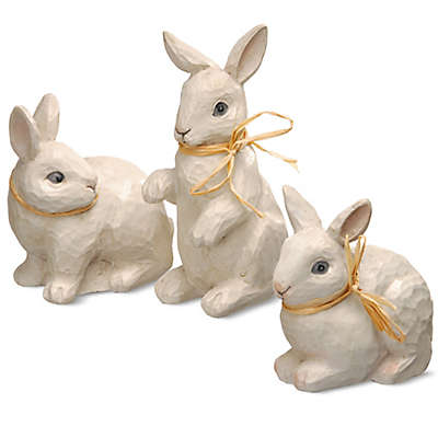 National Tree Company 7-Inch Bunny Trio in White (Set of 3)