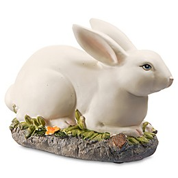 National Tree Company 7.5-Inch Resting Bunny in White