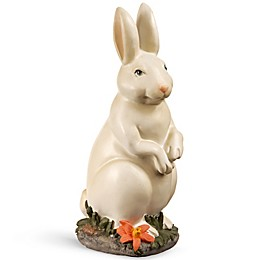 National Tree Company 10-Inch Standing Bunny in White