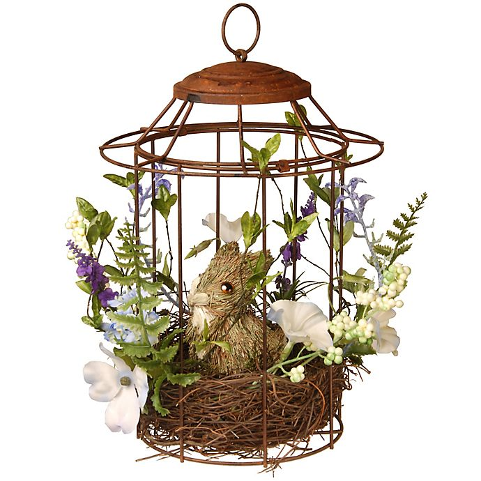 Alternate image 1 for National Tree Company 12-Inch Easter Bird Cage
