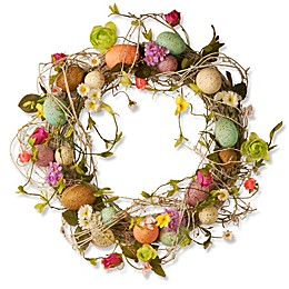 National Tree Company Garden Accents 18-Inch Easter Egg Wreath
