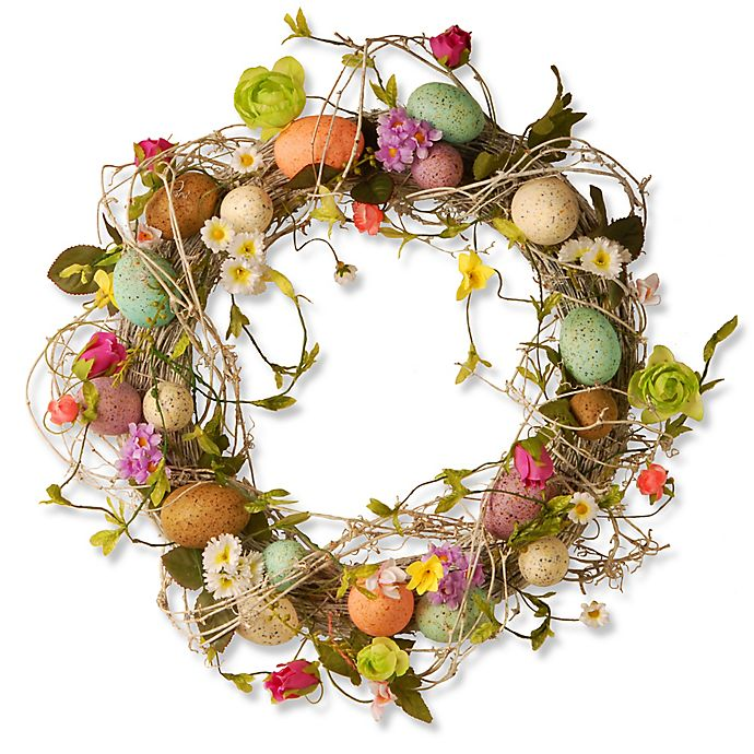 Alternate image 1 for National Tree Company Garden Accents 18-Inch Easter Egg Wreath