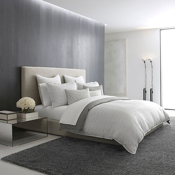 Alternate image 1 for Vera Wang™ Lux Mirror Square Duvet Cover in Grey