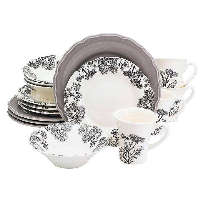 Alternate image 1 for Euro Ceramica Savannah 16-Piece Dinnerware Set