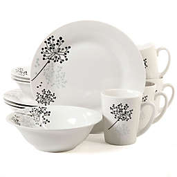 Gibson Home Netherwood 12-Piece Dinnerware Set in White