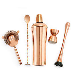 Old Dutch International DuraCopper® 5-Piece Cocktail Shaker Set
