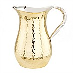 Old Dutch International Hammered Champagne Water Pitcher with Ice Guard