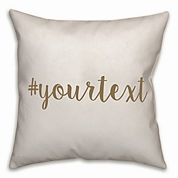 Designs Direct Script Font Hashtag Square Throw Pillow