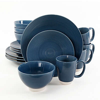 Gibson Elite Rowland 16-Piece Dinnerware Set in Blue