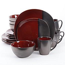 Gibson Elite Volterra 16-Piece Dinnerware Set in Red