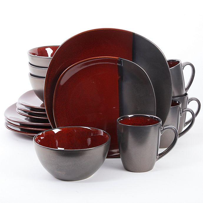 Alternate image 1 for Gibson Elite Volterra 16-Piece Dinnerware Set in Red