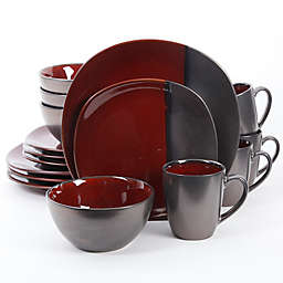 Gibson Elite Volterra 16-Piece Dinnerware Set in Red