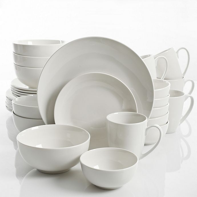 Alternate image 1 for Gibson Home Ogalla 30-Piece Dinnerware Set in White