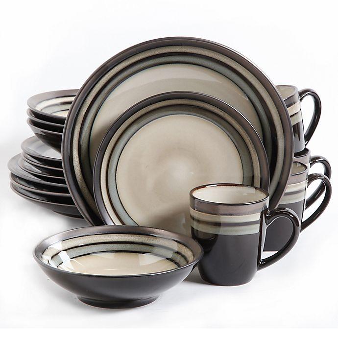 Alternate image 1 for Gibson Elite Lewisville 16-Piece Dinnerware Set in Grey