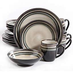 Gibson Elite Lewisville 16-Piece Dinnerware Set in Grey